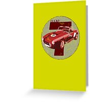 Vintage Feel Lucky Seven Cobra Classic Sports Car Greeting Card