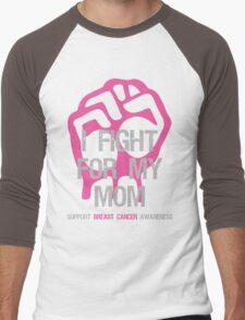 I Fight Breast Cancer Awareness - Mom Men's Baseball ¾ T-Shirt