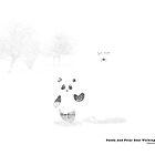 Panda And Polar Bear Walking In The Snow by Panda And Polar Bear
