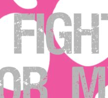 I Fight Breast Cancer Awareness Grandma Sticker