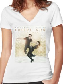 Future Now The Tour Demi Lovato Nick Jonas Gunahad05 Women's Fitted V-Neck T-Shirt