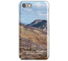 hiking path and mountains at Johnston's Ridge iPhone Case/Skin