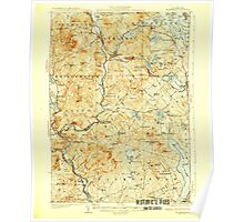 USGS TOPO Map New Hampshire NH Holderness 330094 1927 62500 Poster