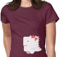Awkward Dinosaur Girl Womens Fitted T-Shirt
