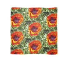 Oriental poppy in orange and green Scarf