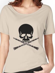 Skull with Clarinet Crossbones Women's Relaxed Fit T-Shirt