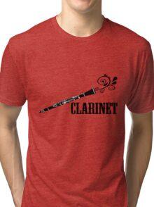 Clarinet Vector Design Tri-blend T-Shirt