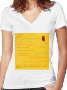 Flying Away (Fun Home) Quotes  Women's Fitted V-Neck T-Shirt