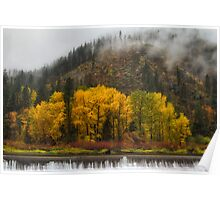 Tumwater Canyon Autumn Colors Poster