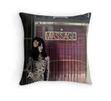 MASSAGE AND TATTOO Throw Pillow