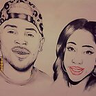 Singers Chris Brown & Sevyn Streeter  by TayeTheArtist