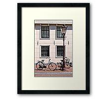 Vintage Bicycles - Plain Framed Print