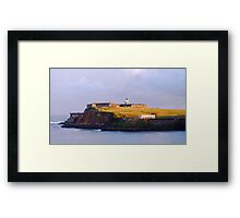 Fort Bathed in Morning Light Framed Print