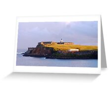 Fort Bathed in Morning Light Greeting Card