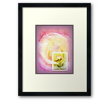 Message in Pastel Framed Print