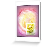 Message in Pastel Greeting Card