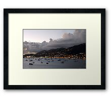 Sundown on St. Thomas Framed Print