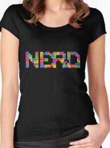 Tetris Nerd  Women's Fitted Scoop T-Shirt