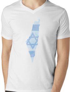 Israel Mens V-Neck T-Shirt