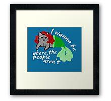 The Little Mercat Framed Print