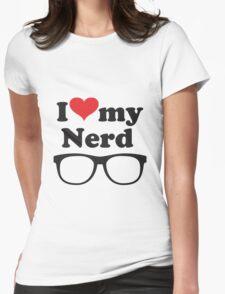 I love my nerd Womens Fitted T-Shirt