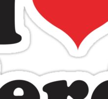 I love nerds Sticker