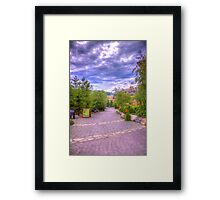Blue Mountain path Framed Print