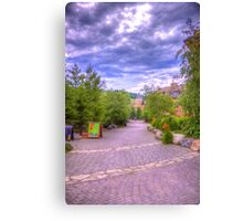 Blue Mountain path Canvas Print
