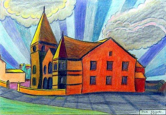 375 - BETHLEHEM CHAPEL, RHOSLLANERCHRUGOG - DAVE EDWARDS - COLOURED PENCILS - 2013 by BLYTHART