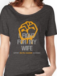 I Fight Multiple Sclerosis MS Awareness - Wife Women's Relaxed Fit T-Shirt