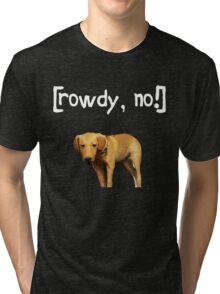 Rowdy no! Tri-blend T-Shirt