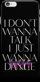 Girls Aloud - I Don't Wanna Talk I Just Wanna Dance - White w/ Image t-shirt/sticker by Hrern1313