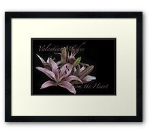 "Cards ""From the Heart"" Series Framed Print"