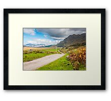 Landscape, Single track road, Kinloid to Loch Morar Framed Print