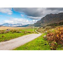 Landscape, Single track road, Kinloid to Loch Morar Photographic Print