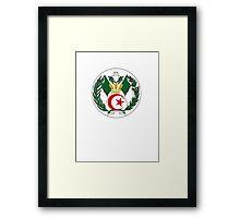 Coat of Arms of Algeria Framed Print