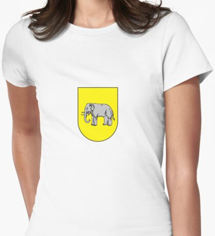 coat of arms of Benguela capital of Portuguese province Bengala Womens Fitted T-Shirt