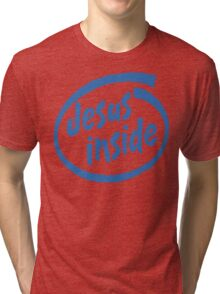"Christian ""Jesus Inside"" T-Shirt Tri-blend T-Shirt"