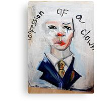 Confession of a clown Canvas Print