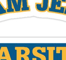 "Christian ""Team Jesus Varsity"" T-Shirt Sticker"