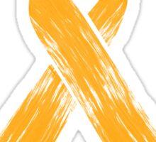 Orange Ribbon Multiple Sclerosis Awareness Sticker