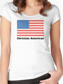 Christian American Women's Fitted Scoop T-Shirt