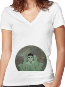 Nick Diaz Women's Fitted V-Neck T-Shirt