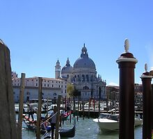 Gondolas on the Grand Canal, Venice by lezvee