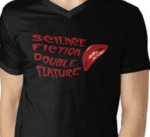 Science Fiction Double Feature Mens V-Neck T-Shirt