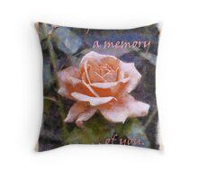 Each Petal - A Memory of You Throw Pillow