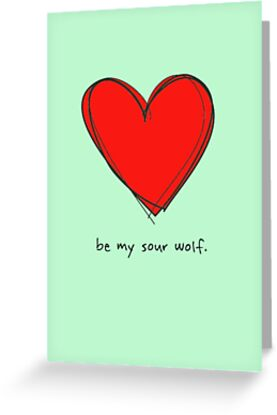 Be My Sour Wolf - Sterek / Teen Wolf Valentine by fangeek