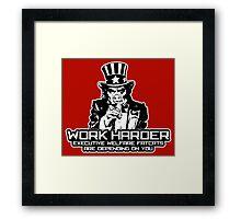 Corporate Welfare State Framed Print