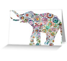 Colorful Abstract Retro Elephant Greeting Card