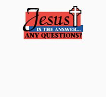 "Christian ""Jesus Is The Answer - Any Questions?"" Womens Fitted T-Shirt"